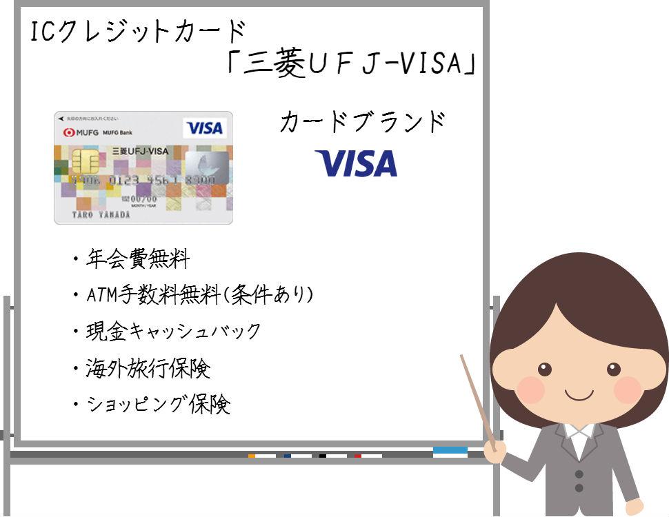三菱UFJ-VISAは現金キャッシュバックとATM手数料無料が魅力!